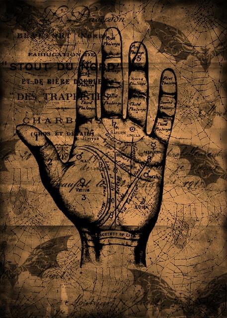 Fortune Teller palm chart - very dark & very nice