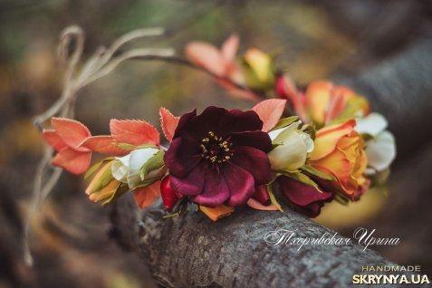Осенний венок из фоамирана Осенние щедроты
