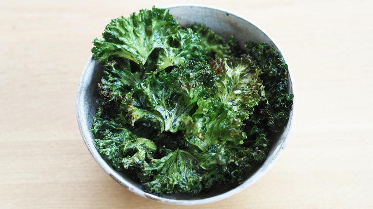Grønnkålchips - fredagskos med helseeffekt;-)