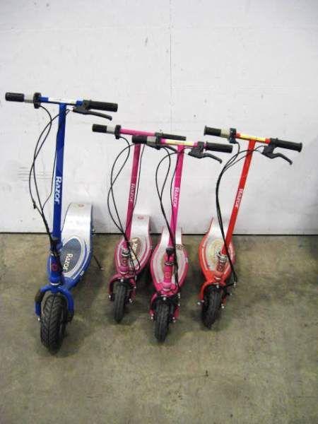 Shopgoodwill Com Lot 4 Razor Electric Scooters E300 E175