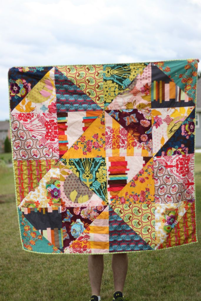 triangle quilt- nice for big, bold prints!