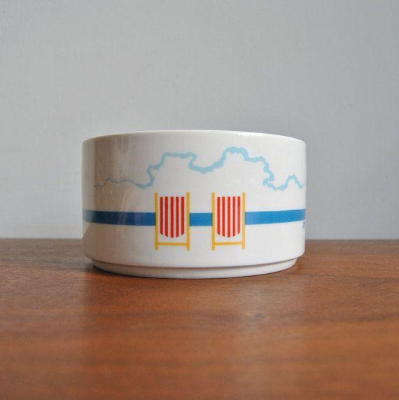 Royal Copenhagen Picnic Bowl by Ole Kortzau by ModernSquirrel