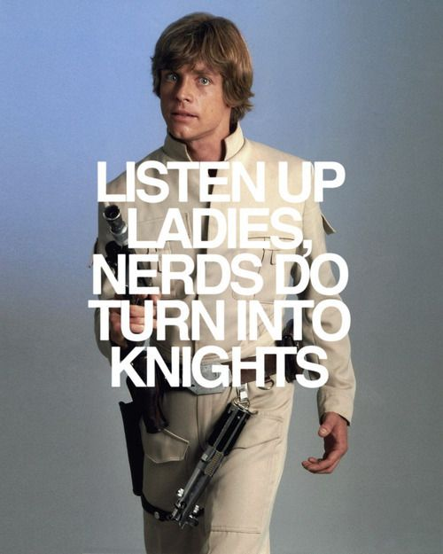Always be kind to the nerd... he may end up being a knight... or at least your boss