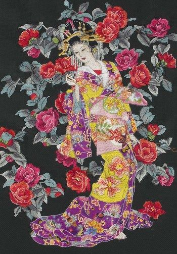 Tsubaki - Cross Stitch Kit $66