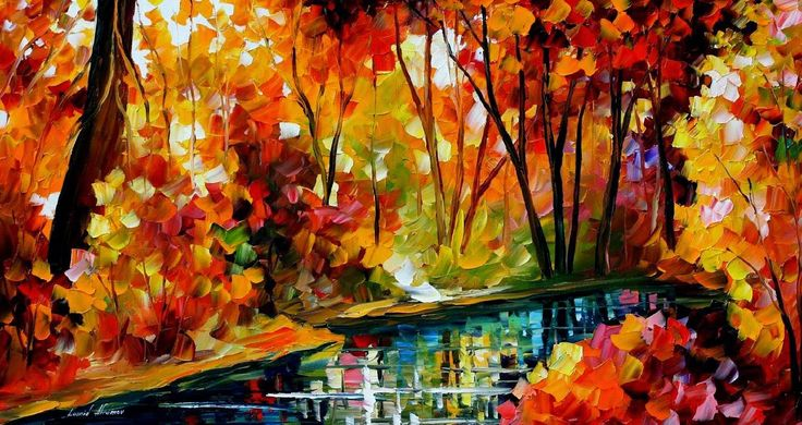 Autumn Painting by Leonid Afremov River