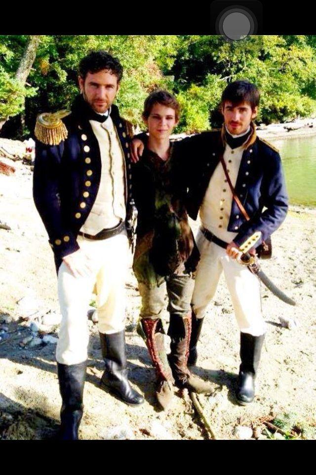 Liam Jones (far left), Peter Pan (middle), Killian Jones/ Captian Hook (far right)