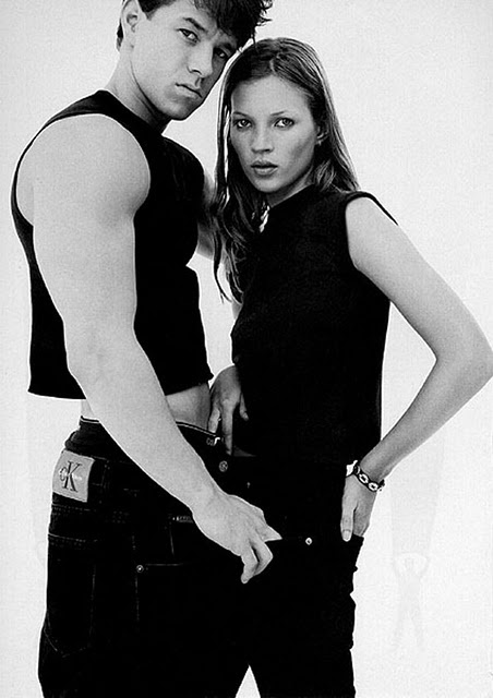 Mark Wahlberg & Kate Moss. Calvin Klein.