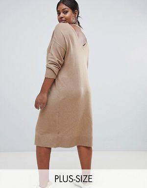 f446e83235 Micha Lounge Curve deep back midi jumper dress
