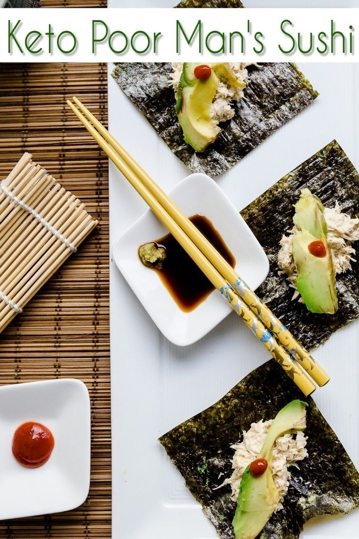 Poor Man's Sushi Recipe Keto recipes, Keto snacks, Food