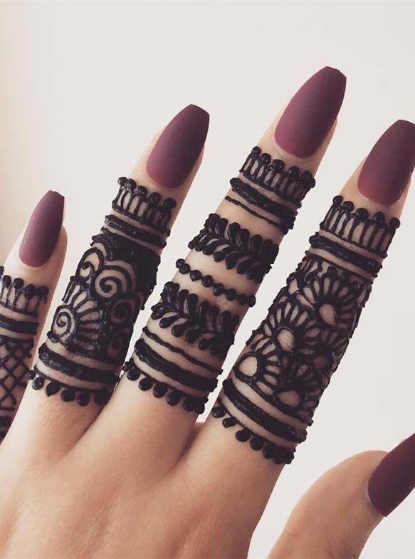 Finger Henna Designs Mehndi Designs For: Gorgeous Simple Fingers Henna Designs For 2019