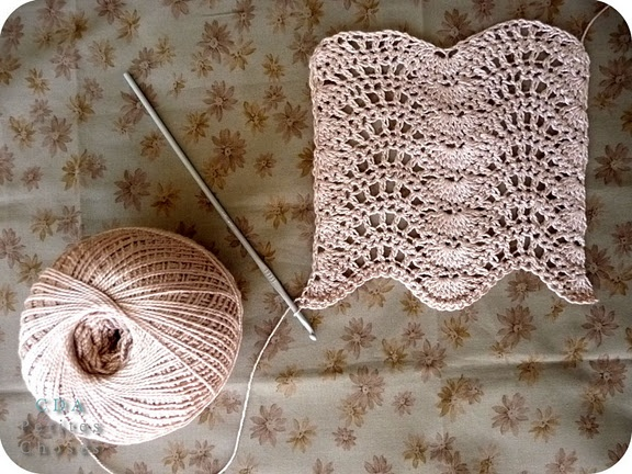 Crochet lacy waves.