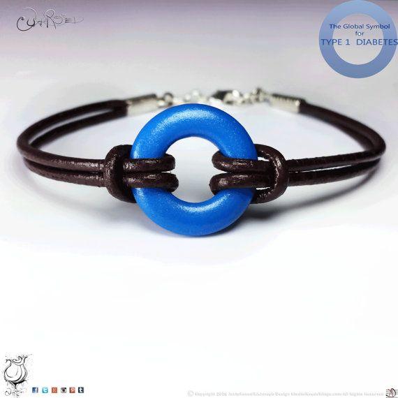 Type 1 Diabetes Bracelet  Type One Diabetic Jewelry  by Juxtarosed