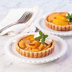 Almond Peach Mini Tarts