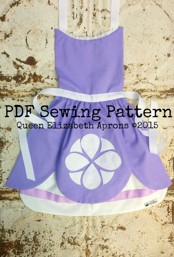 SOFIA the FIRST Pdf Sewing PATTERN. Disney by QueenElizabethAprons