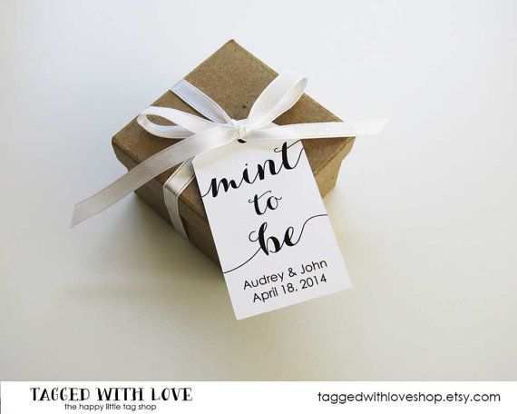 Mint To Be Wedding Favor Tags Favors Candy Party Idea Medium