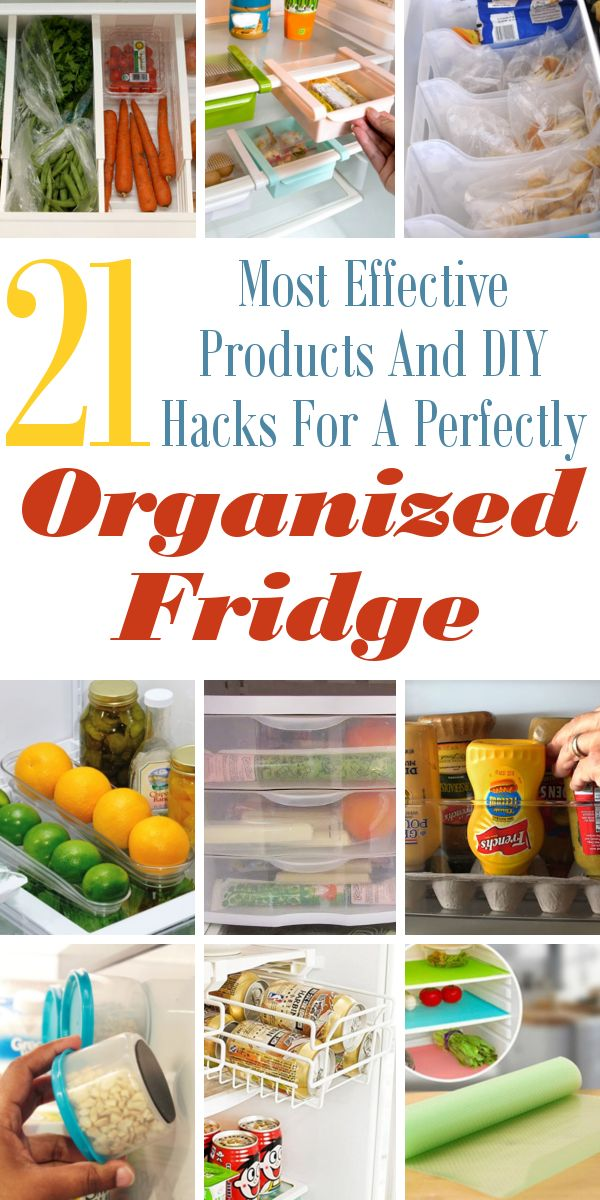 21 Most Effective Products And DIY Hacks For A Perfectly Organized Fridge. #OrganizedFridge #OrganizedHome #CleaningHacks