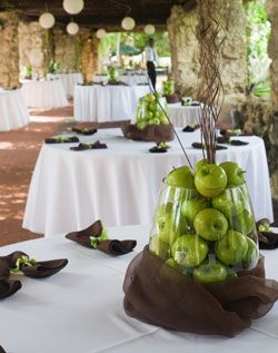 14 best apple green weddings images on pinterest green weddings green apple centerpiecer a wedding maybe provide burlap bags to take home junglespirit Image collections