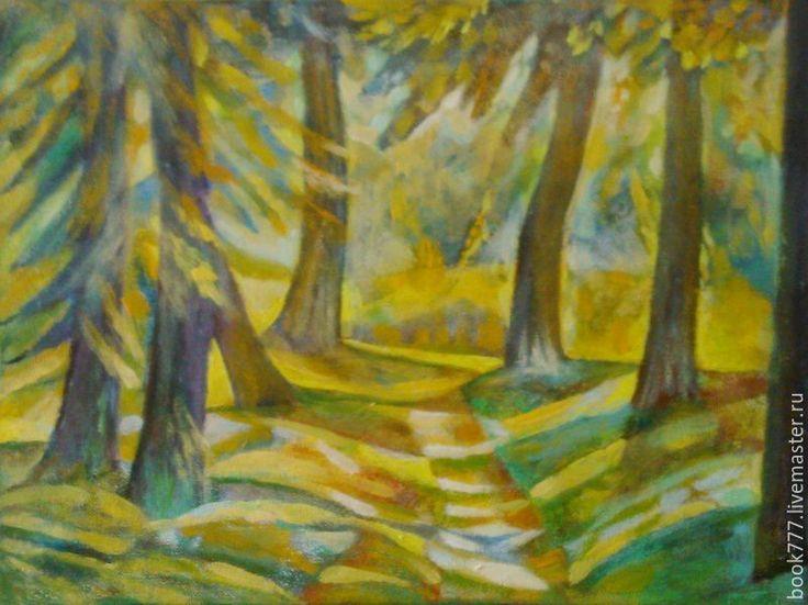Купить Когда смотрю на первые снежинки - желтый, картина, авторская ручная работа, картина в подарок