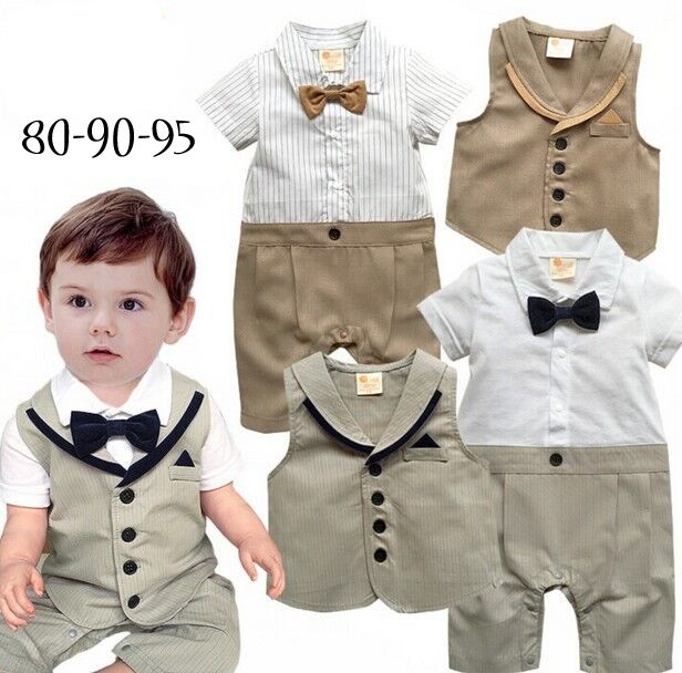 We love it and we know you also love it as well Baby clothes 2pcs set short sleeve romper+bow tie vest baby boy gentlemen summer clothes infant  toddler suit wedding just only $11.65 with free shipping worldwide  #babyboysclothing Plese click on picture to see our special price for you