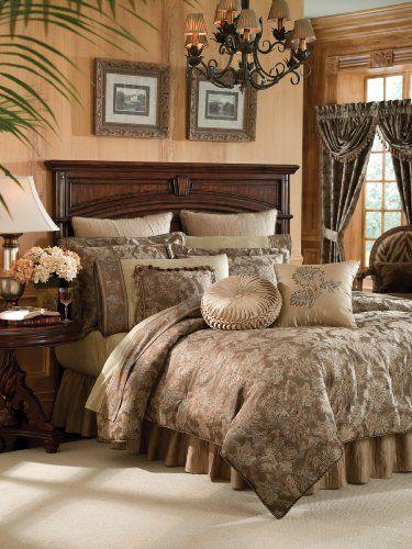 Crocill Home Botticelli 4-Piece Comforter Set, Taupe, King by Croscill, http://www.amazon.com/dp/B004AP9RDW/ref=cm_sw_r_pi_dp_eu4oqb0GTM1H5