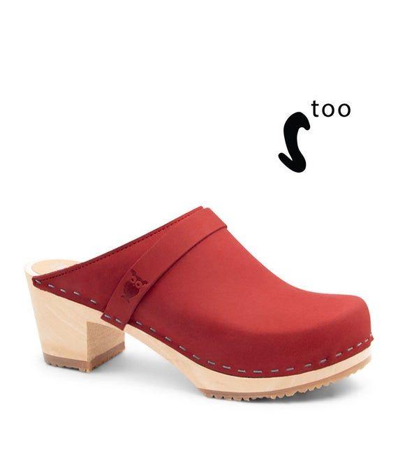 Wood sole clog/Womens Clogs