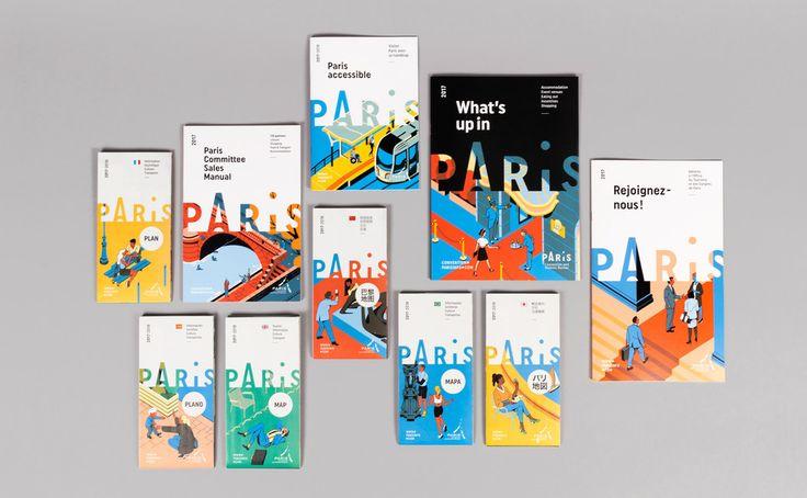 Charte graphique de Vincent Mahé pour l'office du tourisme de Paris (2017) Etapes