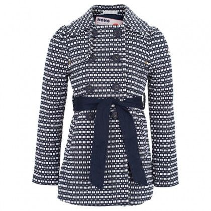 Navy and White Tweed Mac - Would love to have this winter coat for my daughter for winter!