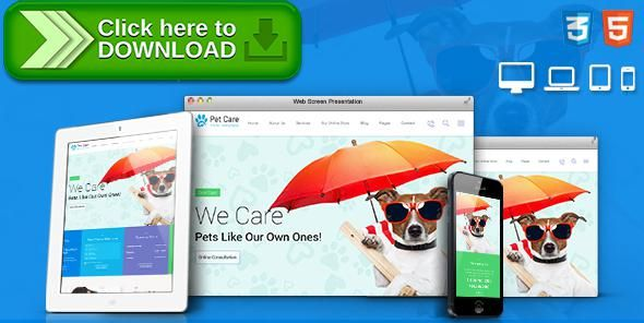 [ThemeForest]Free nulled download Pet Care - Pet Shop, Veterinary Responsive Site Template from http://zippyfile.download/f.php?id=25411 Tags: animal, cat, dog, grooming, happy pets, pet, pet care, pet clinic, pet hospital, pet hotel, pet salon, pet shop, shelter, vet, veterinary