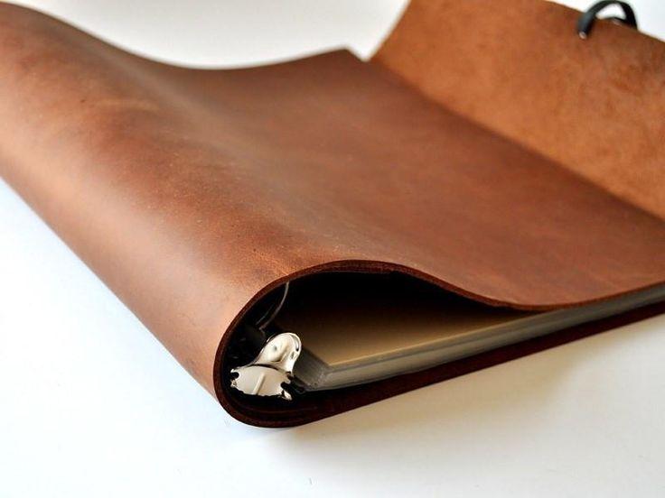 Woodsman Soft Leather 3 Ring Binder-3 Ring Binders-Jenni Bick Bookbinding-Jenni Bick Custom Journals