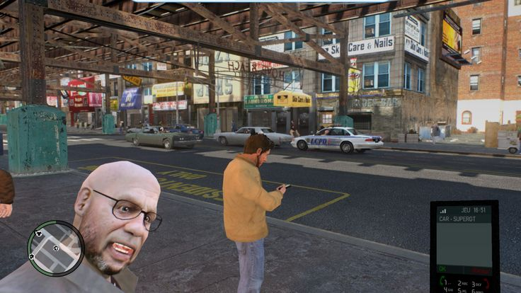 Roman home's street. Perfect timing for this screenshot, the guy in the foreground looks stupid. Screenshot by: Louis Trabac #action #adventure #grandtheftautoIV #screenshot