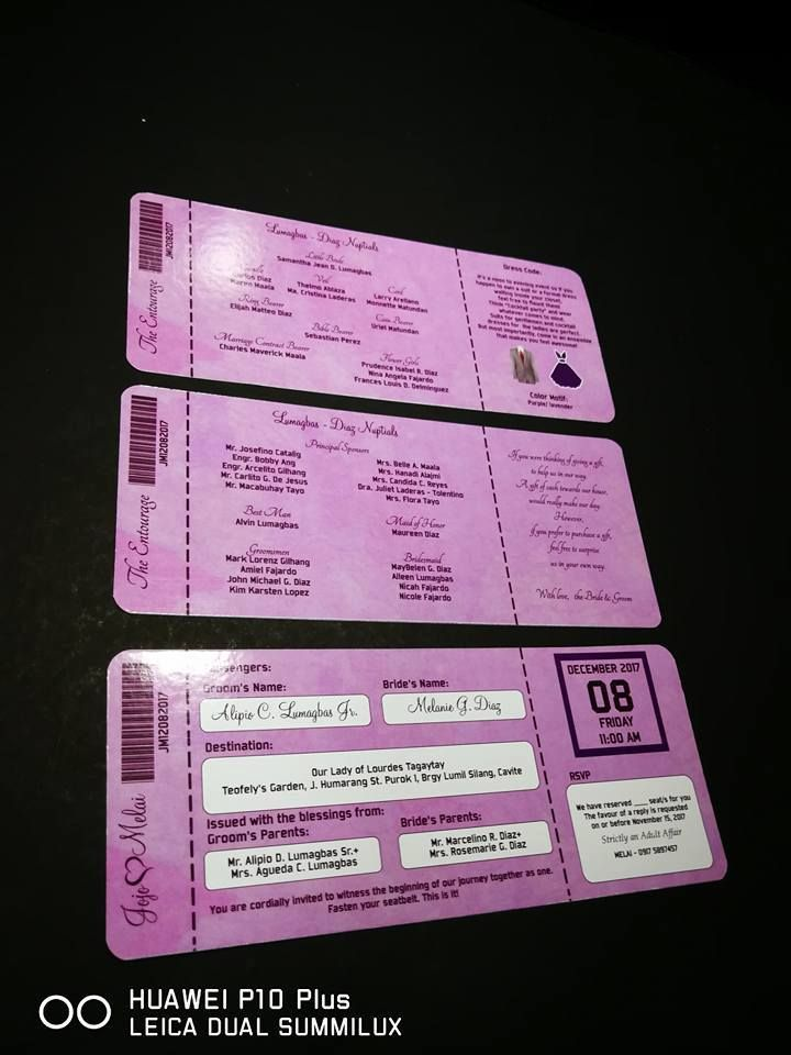 eab3de538adf ALL BOARDING PASS INVITATION PURPLE THEME Early Reservation Discounted Rate  P 150.00 Regular Rate P 200.00