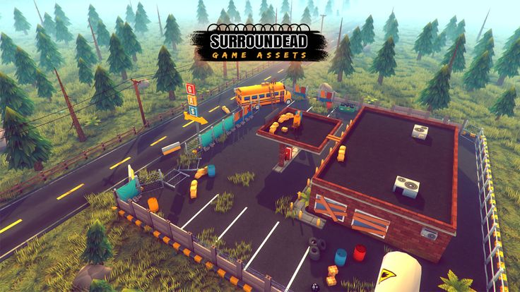 SurrounDead - Survival Game Assets (modular buildings with interiors)  Available for download:https://www.assetstore.unity3d.com/en/#!/content/76276