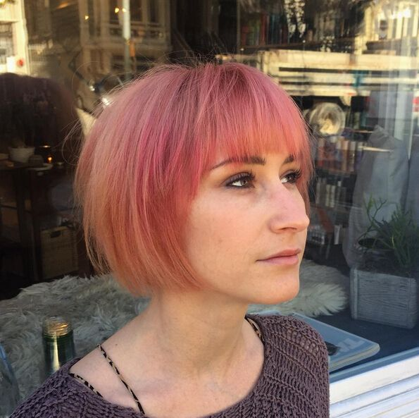 cute short bob haircuts 17 best ideas about bob hairstyles with bangs on 1478 | 7046bf5d836dbc03b58f31491a73d795