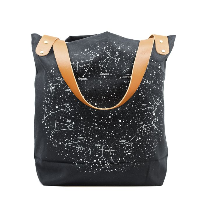 Love this black tote with a star map on it!   http://www.ahdpaperco.com/ahd-cards