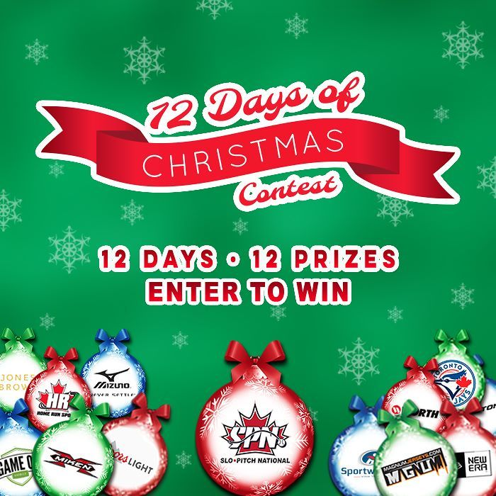 It's that time of year!! 12 Days of #Christmas 2017. #Contest opens #Friday #December 1st. 12 winners!! Enter from the Slo-Pitch National #Facebook page! . Invite your friends to enter the 12 Days of Christmas Contest and increase your chances to #win. You will receive one additional ballot for each #friend you invite and who enters! What an amazing lineup: . Day 1  SPN  Win 2 Field Level #Toronto #BlueJays Tickets to a 2018 Regular Season Game (excludes Game Opener and #Canada Day) . Day 2…