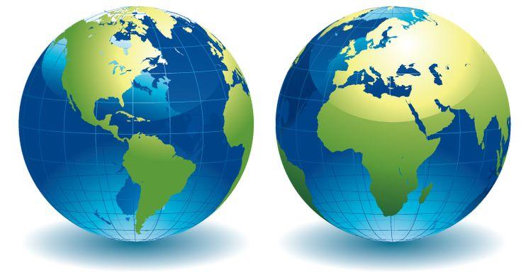 Mundo, Planisferio ILUSTRACIONES EN PNG Material para la Escuela