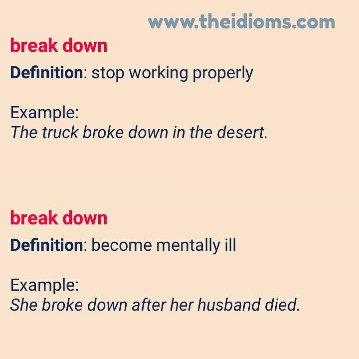 Break Down Idiom Meaning with Examples explained by theidioms.com  #idioms #theidioms #theidioms.com #sayings #proverbs #english