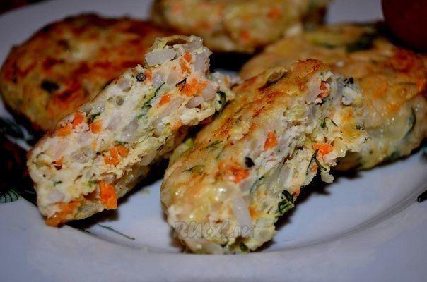 Сочные куриные котлеты с кабачком и рисом   Школа шеф-повара