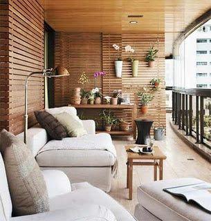 decorar terrazas paredes madera