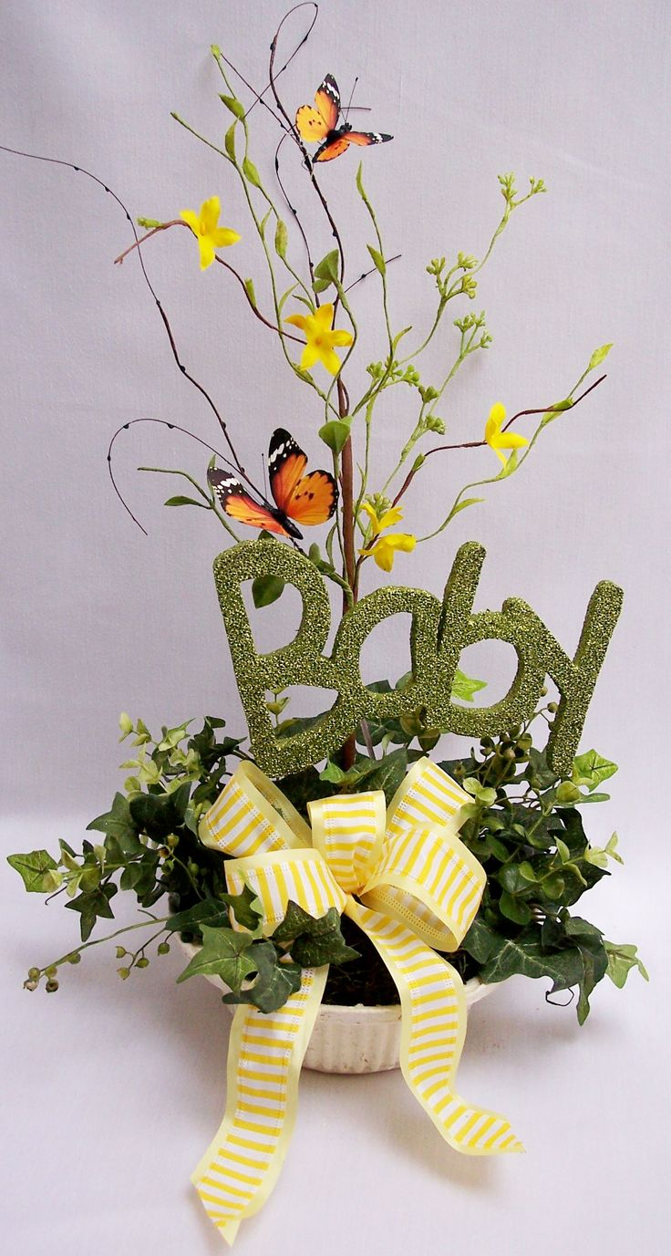 baby shower floral arrangements baby shower centerpieces with