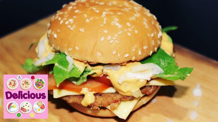 Homemade Big Tasty Recipe - How to Make Big Tatsy Mc Donalds - Easy Big ...