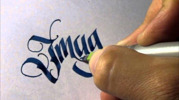 Parallel pen Calligraphy - Imagine