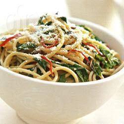 Spaghetti met chilipeper, citroen en rucola @ allrecipes.nl