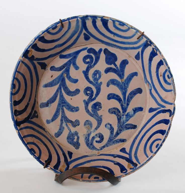 Spanish Granadino Blue on White Charger | Colonial Arts