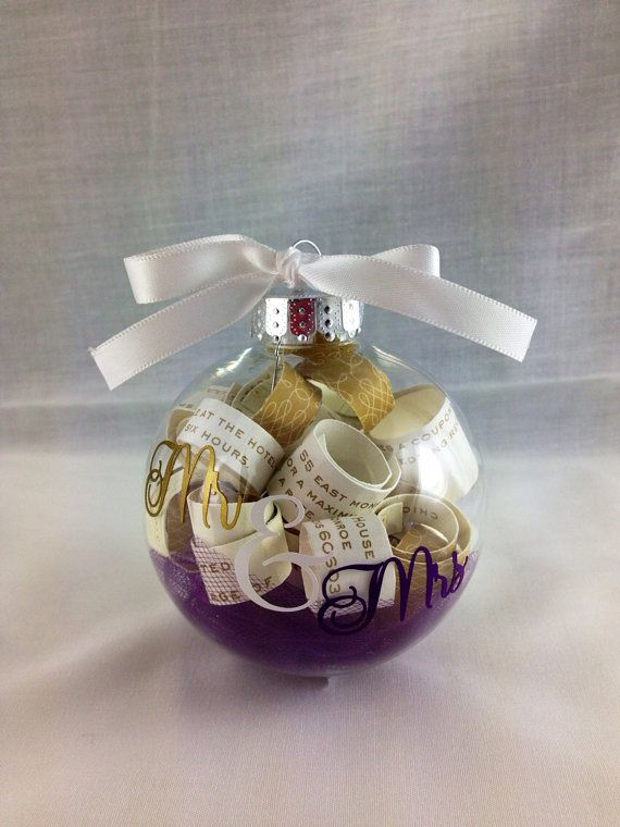 Personalized Plastic Wedding Invitation Keepsake Christmas Ornament, Wedding Gift on Etsy, $12.00