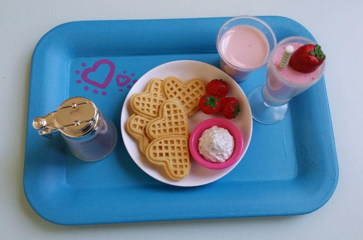 American Girl Doll Breakfast in Bed Tray DIY                                                                                                                                                      More