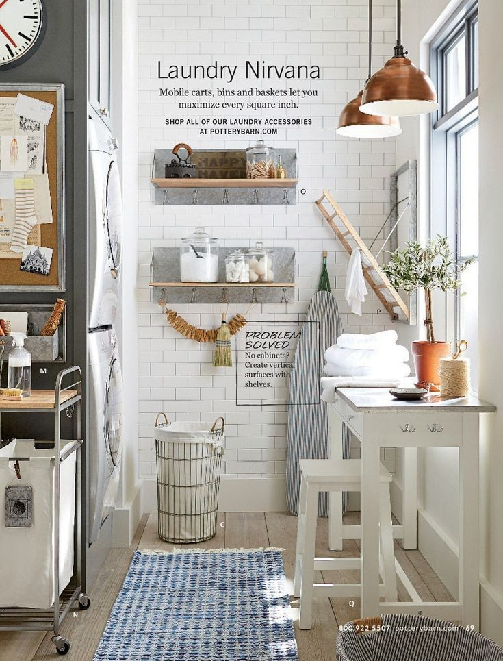 Pottery barn spring 2017 d1 page 68 69 laundry for Pottery barn laundry room
