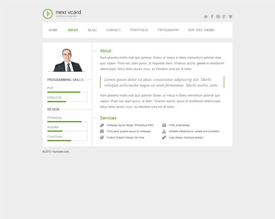 11 best More of the Best Resume, CV \ vCard WordPress Themes - wordpress resume theme