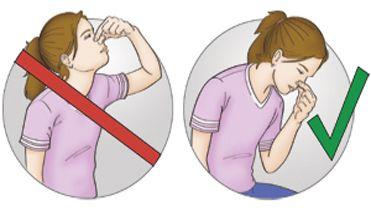 Πρώτες βοήθειες για τη Ρινορραγία