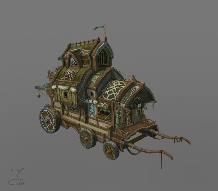 Elf Wagon, Ji Young Joo on ArtStation at https://www.artstation.com/artwork/8ZOmq